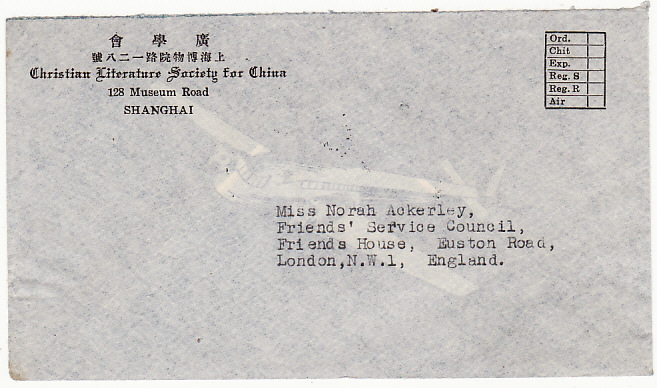 [14600]  CHINA-GB [FRIENDS SERVICE COUNCIL/QUAKERS]  1947(Jan 27)