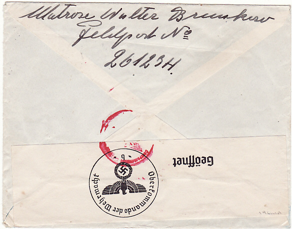 [16660]  GERMANY-SWEDEN [FELDPOST MAIL]  1941(May 20)