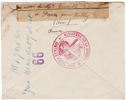 [16659]  FRANCE-SWITZERLAND [TRESOR AR-RED CROSS-POW]  1918(Sep 6)