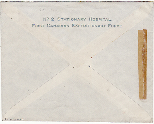 [15327]  FRANCE [BRITISH FORCES/CANADIAN HOSPITAL/FRENCH FORCES]   1915(Jul 2)