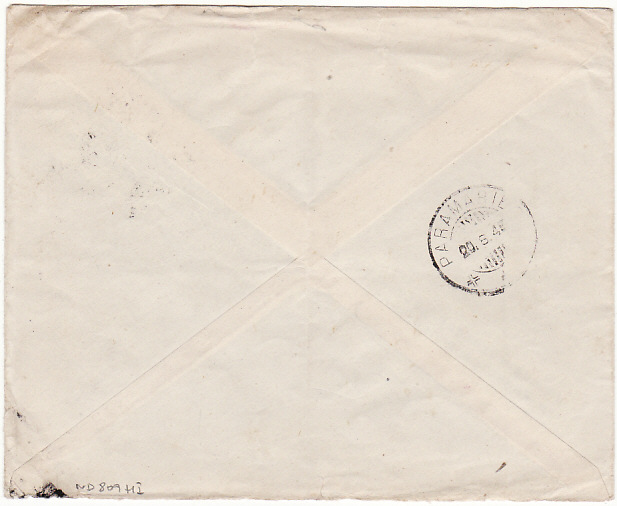 [14279]  GB-NED. WEST INDIES [FREE DUTCH FORCES in UK-AIRMAIL]  1945(Aug 13)