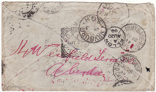 [6005] GB-SOUTH AFRICA-GB [REDIRECTED & RETURNED MAIL- HOSPITAL] 1900(May 20)