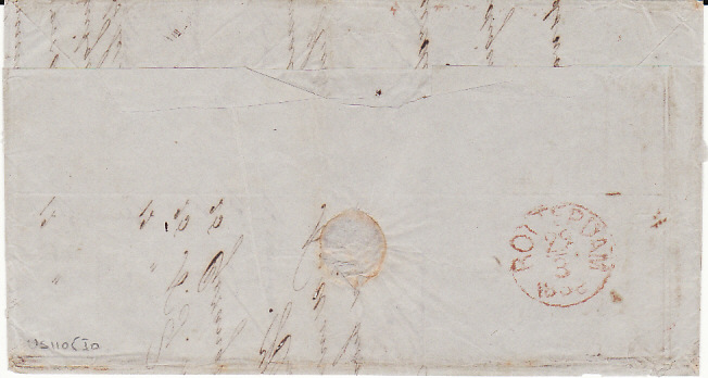 [11780]  NED. EAST INDIES-HOLLAND [1858 MILITARY MAIL]  1858(Mar)