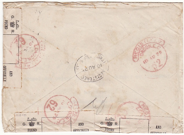 [16432]  SWITZERLAND-GB [REGISTERED-OFFICIALLY OPENED & RESEALED]  1925(Aug 8)