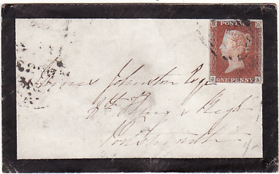 [17288]  GREAT BRITAIN...1845 MOURNING ENVELOPE to 8th KINGS REGIMENT  1845 (Dec - -)