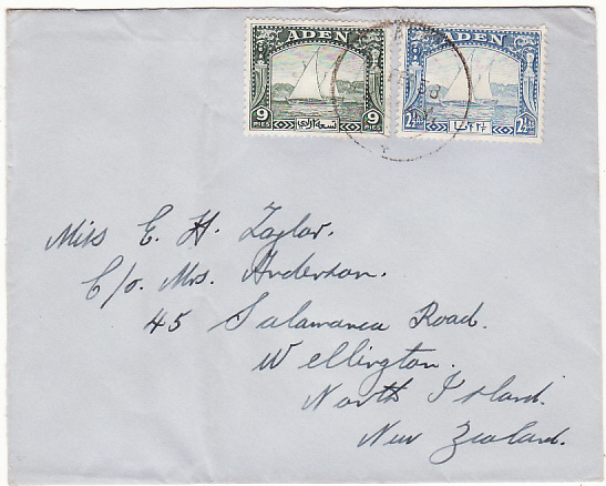 [17493]  ADEN-NEW ZEALAND...DHOW ISSUES..  1938 (Feb 9)