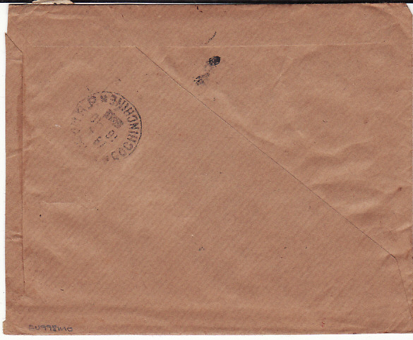 [11194]  INDO CHINE....REGISTERED INTERNAL AIRMAIL to CHIEF OF POLICE  1949(Oct 15)