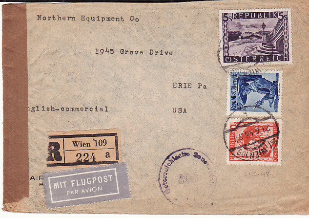 [17528]  AUSTRIA-USA...ALLIED OCCUPATION--REGISTERED...  1948(Jul 21)