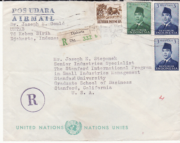 [16359]  NETHERLAND EAST INDIES-USA...INDONESIA REGISTERED UNITED NATIONS...  1959(Mar ??)