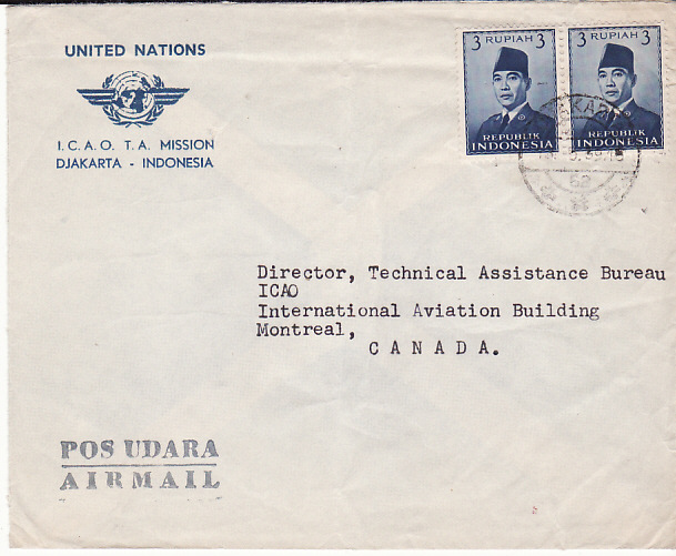 [16360]  NETHERLAND EAST INDIES-CANADA...INDONESIA UNITED NATIONS...  1959(May 8)