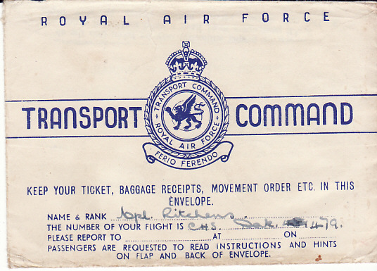 [17642]  IRAQ - EGYPT....WW2 RAF TRANSPORT COMMAND...  1945 (Sep 25)