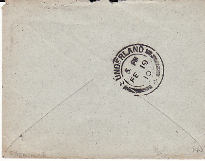 [17688]  SOUTH AFRICA - GB...1910 NATAL with LATE FEE...  1910 (Jan 30)