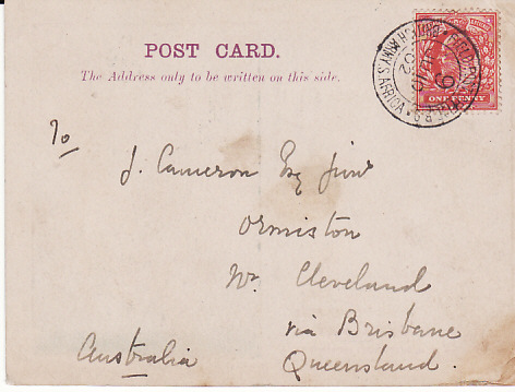 [17738]  BOER WAR - AUSTRALIA.....QUEENSLAND CONTINGENT in TRANSVAAL...  1902 (Jun 10)