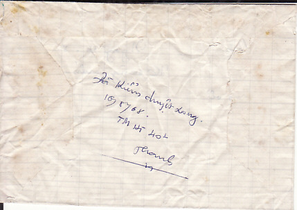 [17844]  VIET-NAM...VIET-NAM WAR INGOING RE-USED MAIL to VIET CONG SOLDIER...  1968 (Aug 10)