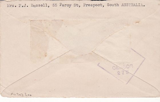 [13035]  AUSTRALIA - THAILAND...1943 POW MAIL DELIVERED 1944...   1943 (Oct 7)