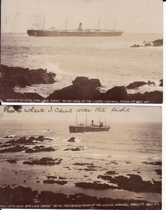 "[13490]  GB - AUSTRALIA…..WRECK of SS ""SUEVIE""….  1907 (Apr 5)"