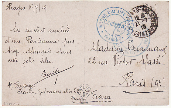 [15202]  FRANCE….1919 FRENCH MILITARY MISSION CZECHOSLOVAKIA  1919 (Jul 16)