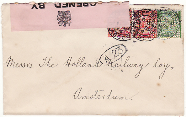 [18386]  GB - HOLLAND...WW1 CENSORED …  1914 (Sep 7)