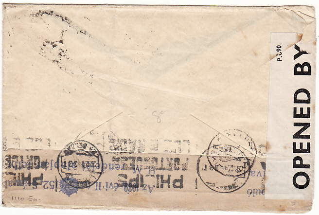 [16233]  HUNGARY-PORTUGAL-GB [UNDERCOVER MAIL-BOX 506-DOUBLE CENSORED]  1941(Nov 17)