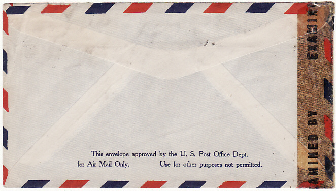 [19226]  USA…WW2 TRAVELLERS CENSOR on M/S ROSEMONT MAIL…  1943 (Jul 9 & 16)