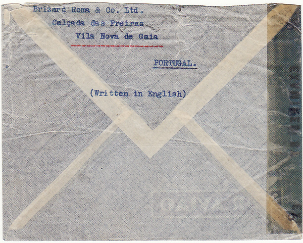 [19413]  PORTUGAL - USA…WW2 CENSORED DIPLOMATIC MAIL…  1944 (Sep 6)