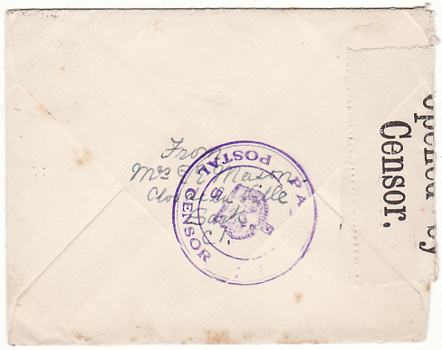 [19255]  GB - TRINIDAD….EARLY WW2 from SARK C.I. CENSORED in TRINIDAD...  1939 (Sep 19)