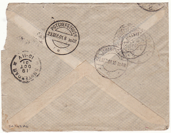[14316]  HOLLAND-SOUTH AFRICA-HOLLAND [BOER WAR/POSTAGE DUE]  1901(Aug 30)