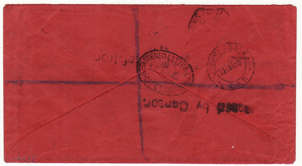 [16823]  SOUTH AFRICA..BOER WAR-REGISTERED POW MAIL TRANSVAAL to C.O.G.H.  1901(Jan 28)