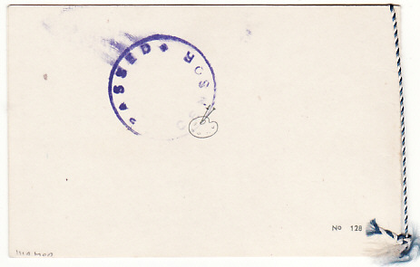 [15421]  CYPRUS [EOKA EMERGENCY/CHRISTMAS CARD/DETAINEE/CENSORED]  1957(Dec)