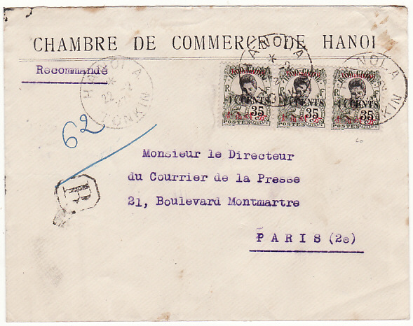 Indo chine mike white worldwide postal history for Chambre de commerce france chine
