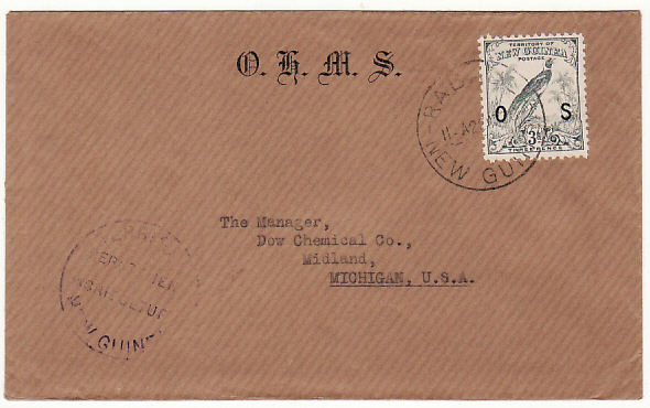 [15214]  NEW GUINEA-USA [OHMS/OS OVPTS]  1936(Oct 2)
