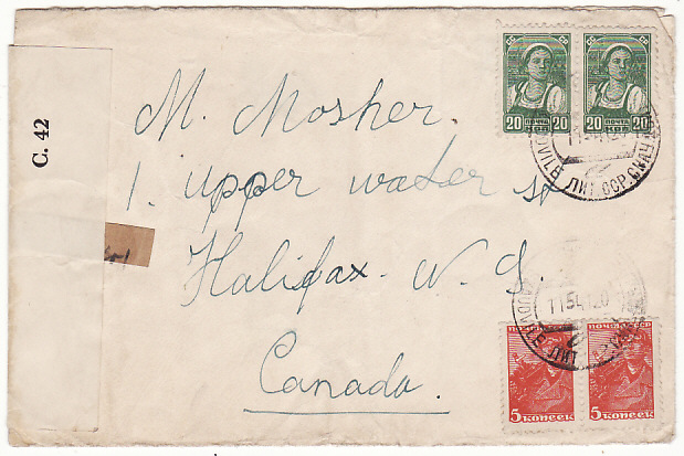 [14866] LITHUANIA-CANADA..1941 CENSORED JUDAICA.. 1941(May 11)