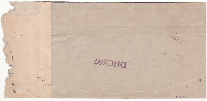 [16600]  INDIA - SWITZERLAND….1944 CENSORED RED CROSS WRAPPER via BOOK POST…  1944 (Oct 7)