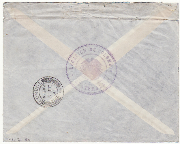 [16694]  GUATEMALA-GB…WW2 LEGATION MAIL to POW LINGFIELD RACECOURSE CAMP….  1941(Jan 23)