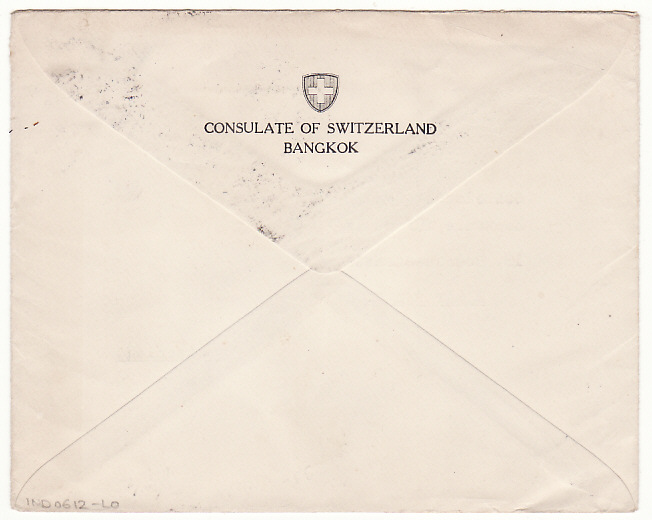 [16485]  THAILAND-SWITZERLAND...WW2 CONSULAR MAIL via JAPAN AIRWAYS..  1940(Jul 19)