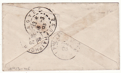 [17568]  INDO-CHINE - FRANCE... 1903 MINATURE ENVELOPE to MILITARY ADDRESS...  1903 (Jan 27)