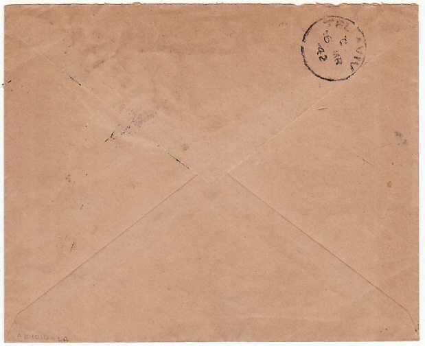[18057]  PALESTINE…WW2 O.H.M.S. from CENTRAL PRISON ACRE...   1942 (Mar 5)