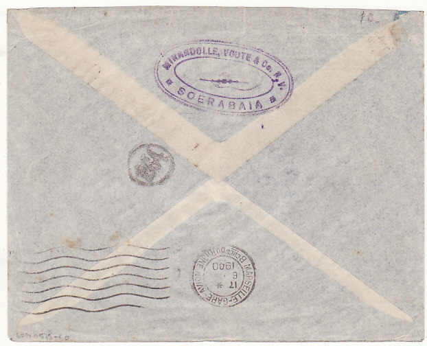[18486]  NED. EAST INDIES - ARGENTINA.... WW2 AIRMAIL CENSORED in SINGAPORE…  1940 (Apr 20)