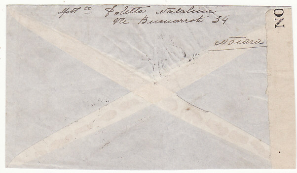 [18634]  ITALY - ITALIAN SOMALILAND …WW2 RETURN TO SENDER UNABLE TO DELIVER.....  1941 (Jan 24)