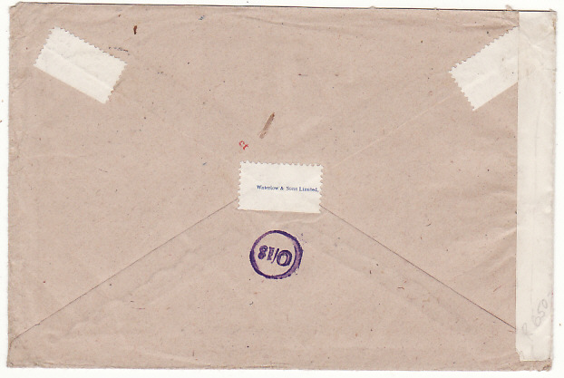 [18767]  BRITISH SOMALILAND - GB….WW2 BRITISH FORCES HONOUR ENVELOPE…  1945 (May 6)