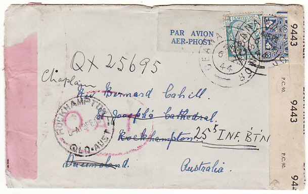 [18775]  IRELAND - AUSTRALIA…DOUBLE CENSORED AIRMAIL & OAT…  1944 (Dec 6)