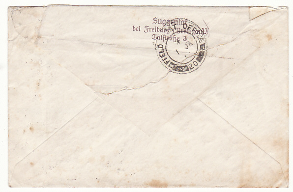 [18895]  GERMANY - PALESTINE…1936 PALESTINE UPRISING INCOMING MAIL …  1936 (Dec 24)