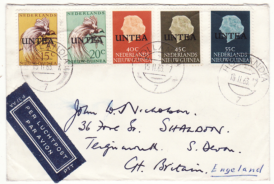 [19603]  WEST NEW GUINEA - GB…U.N.T.E.A. ...   1963 (Feb 15)