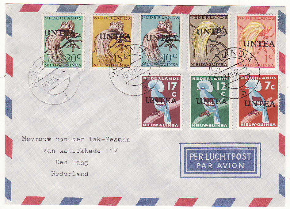 [19604]  WEST NEW GUINEA - NETHERLANDS…U.N.T.E.A. ...   1962 (Dec 18)