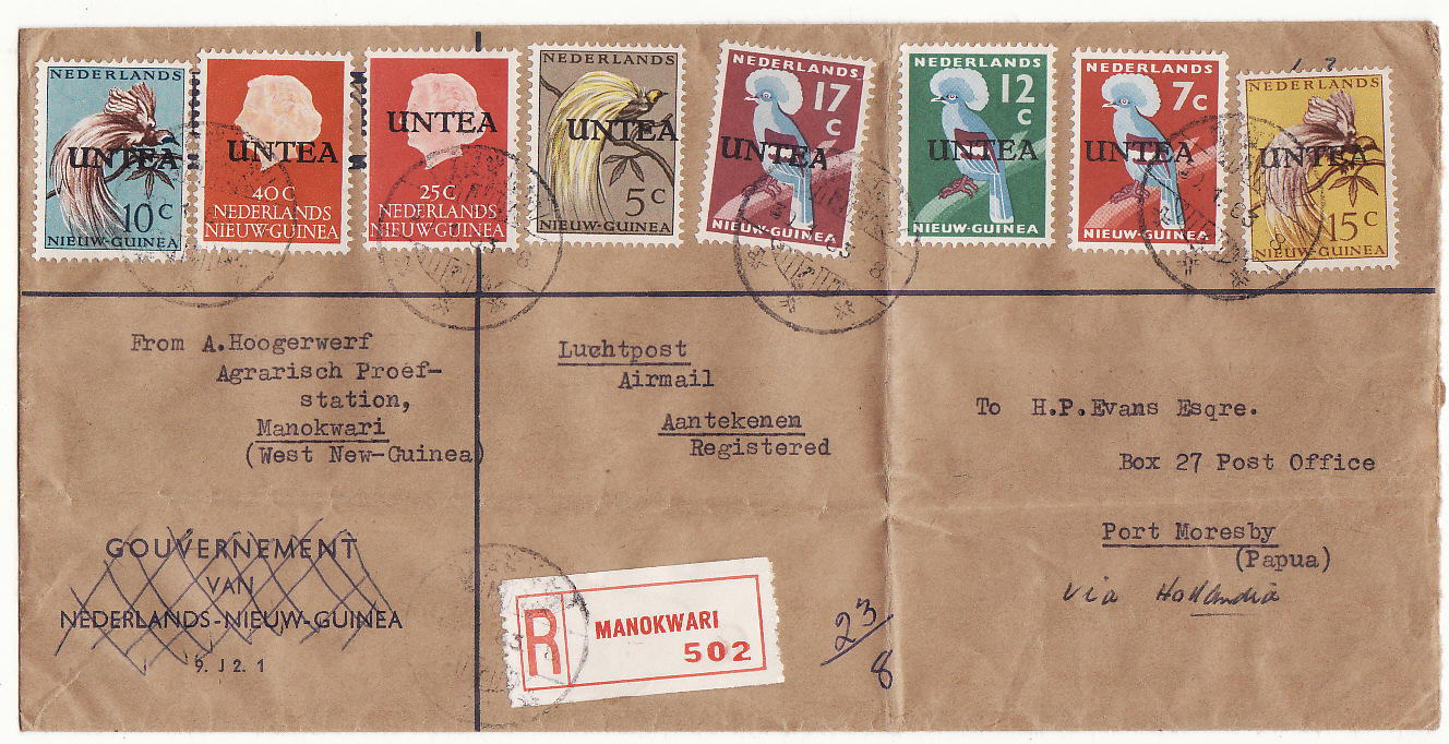 [19606]  WEST NEW GUINEA - PAPUA…REGISTERED U.N.T.E.A to PAPUA. ...   1963 (Jan 30)