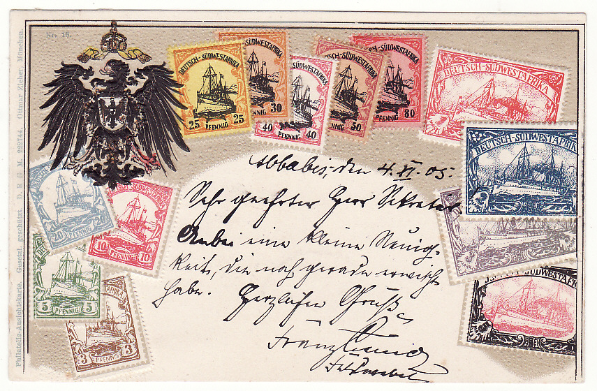[19859]  GERMAN SOUTH WEST AFRICA - GERMANY … HERERO WARS 1903 - 1907 ...  1905 (Nov 6)