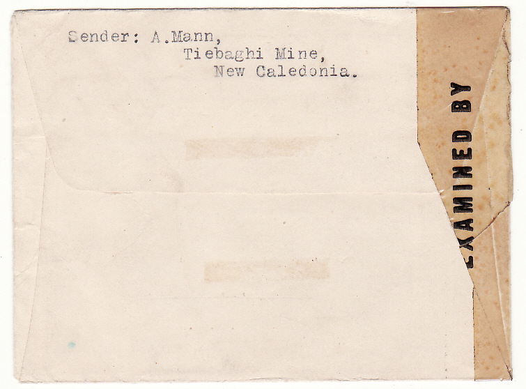 [20048]  NEW CALEDONIA - USA …WW2 TIEBAGHI MINE PAAGOUMENE…  1944 (Apr 24)