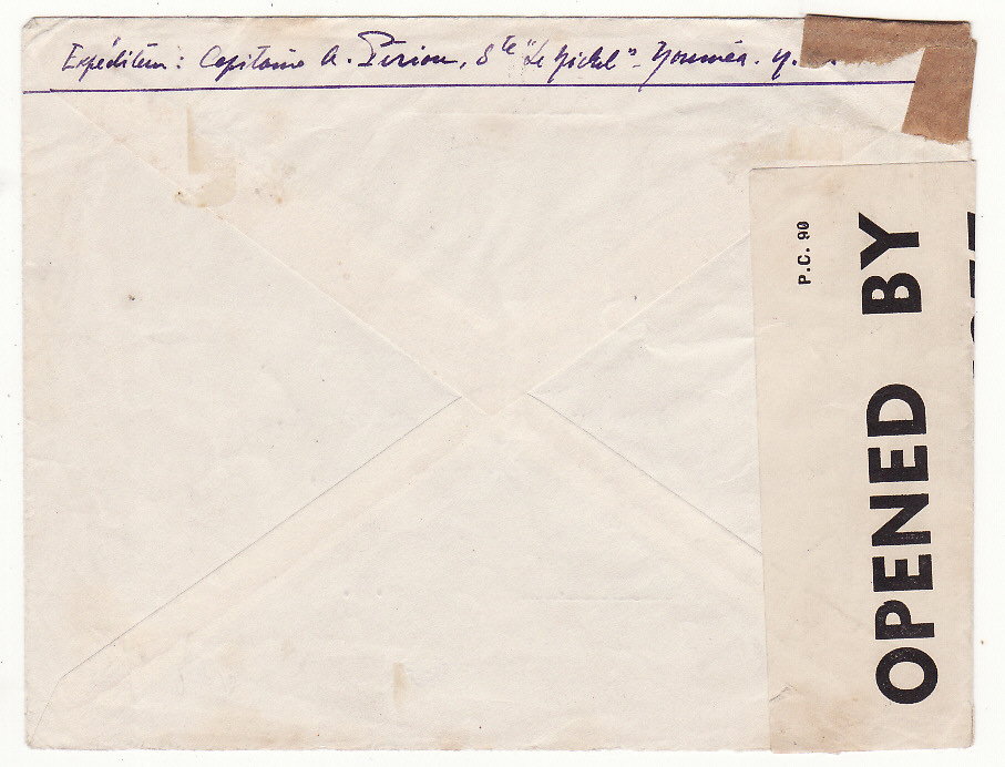 [20080]  NEW CALEDONIA - GB …WW2 AIRMAIL to FREE FRENCH in LONDON …  1941 (Oct 11)