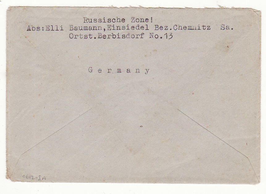 [20345]  GERMANY - GB.....POST WAR REPATRIATED POW from RUSSIAN ZONE OCCUPATION…  1947 (Mar 14)