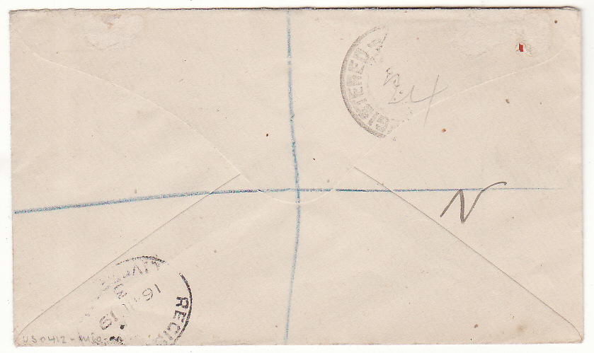 [20412]  PAPUA & NEW GUINEA - UK…1919 NORTH WEST PACIFIC ISLANDS REGISTERED..  1919 (Mar 19)
